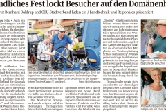 Harzer Volksstimme vom 27.08.2018