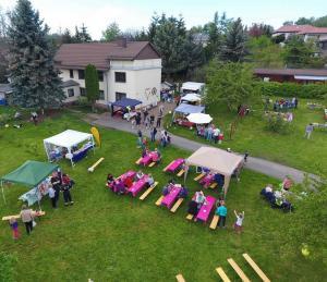 Luftbild vom Hoffest